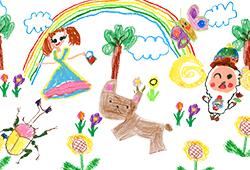 12.その後、他の子ども達の絵と一緒に絵巻物アニメ化